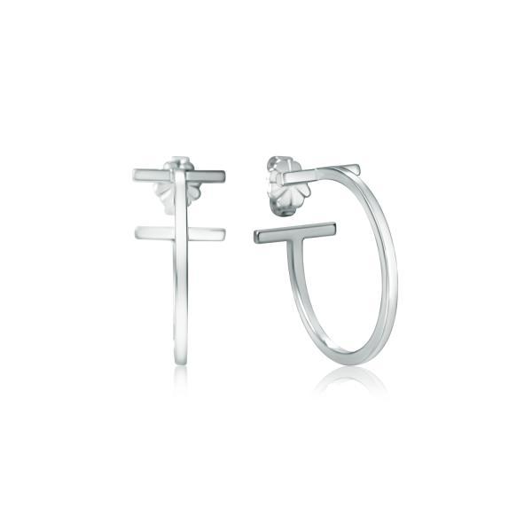 TIFFANY&CO. T ワイヤー フープ ピアス 並行輸入品 t3061
