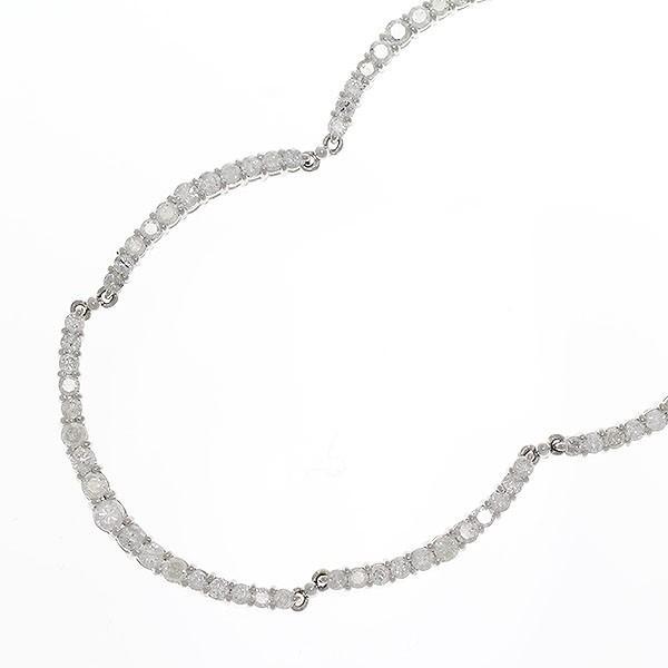 Pt850/Pt900 テニスネックレス ダイヤモンド 計5.00ct ネックレス プラチナ/ 【中古 ジュエリー】【新品 仕上げ済み】|jewelry-total