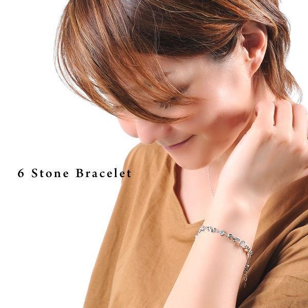 クーポンで半額 ブレスレット レディース/贅沢6粒 波型 一周 ブレスレット/エタニティ/プラチナ仕上げ/シルバー925/誕生日 ギフト プレゼント セール|jewelryaska|05