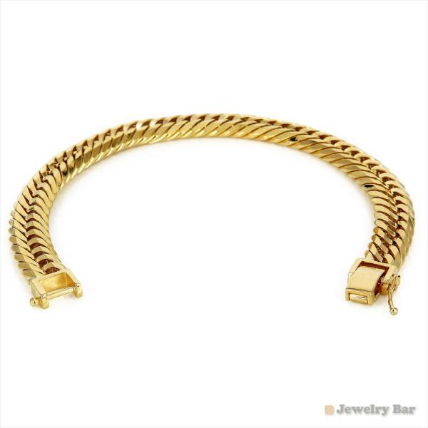 K18 喜平 ブレスレット 12面トリプル 50 g 20 cm 造幣局検定付 中折式金具 ゴールド チェーン メンズ レディース 18金