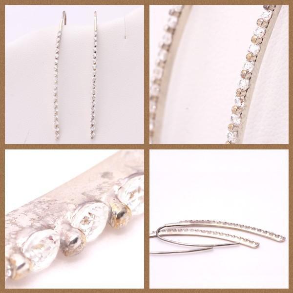 【me on...】K10ホワイトゴールド・ダイヤモンド・リュクスフックピアス