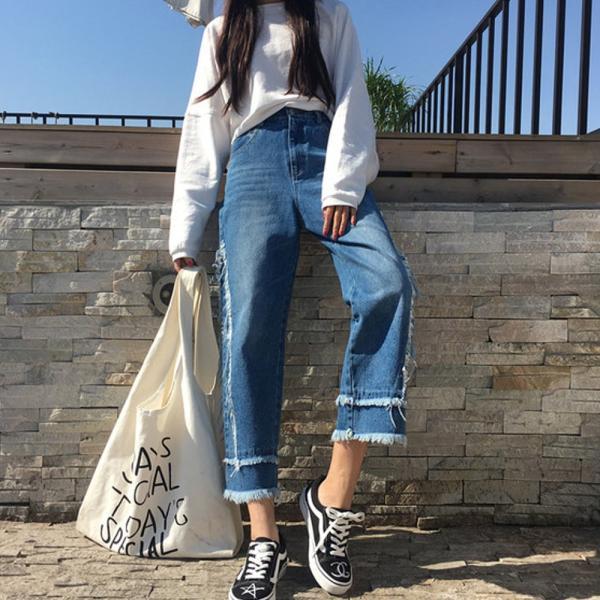 【SALE】 デニム デニムパンツ ジーンズ レディース ジーパン デザインジーンズ デザインデニム カットオフ 切りっぱなし jewelryhills 02