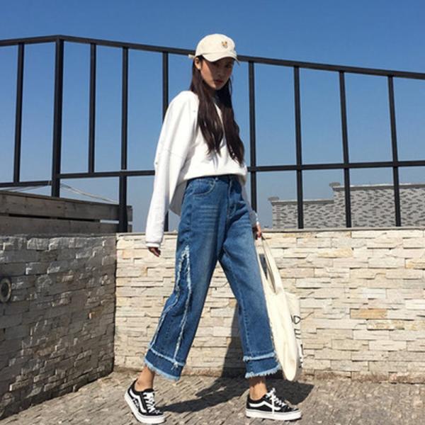 【SALE】 デニム デニムパンツ ジーンズ レディース ジーパン デザインジーンズ デザインデニム カットオフ 切りっぱなし jewelryhills 04