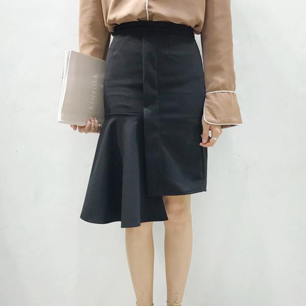 【SALE】 【在庫限り】 スカート 変形スカート 変形 デザイン デザインスカート レディース フレア フレアスカート タイトスカート 膝丈 膝丈スカート|jewelryhills|04