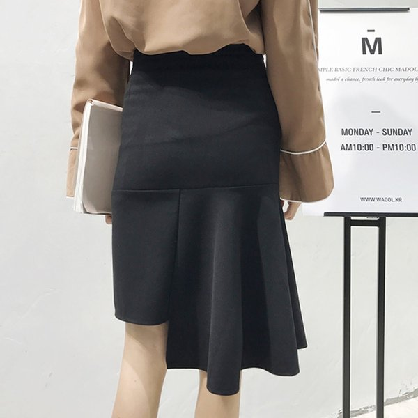 【SALE】 【在庫限り】 スカート 変形スカート 変形 デザイン デザインスカート レディース フレア フレアスカート タイトスカート 膝丈 膝丈スカート|jewelryhills|06
