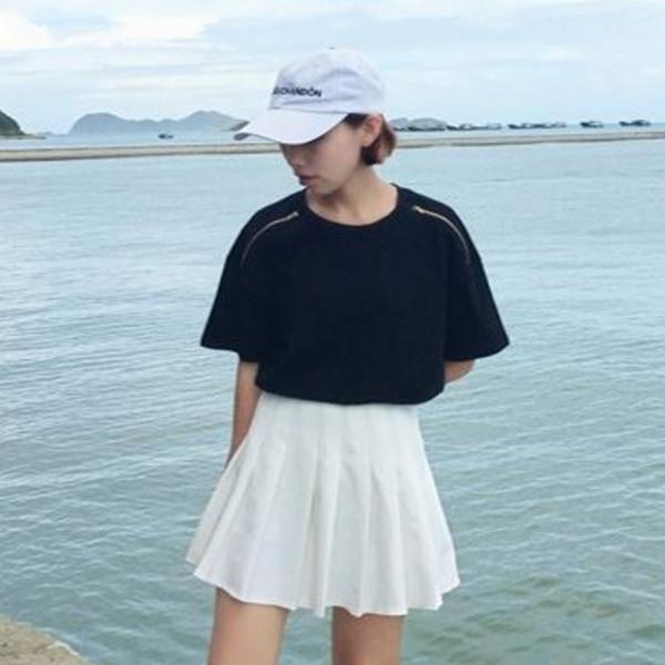 【SALE】 Tシャツ カットソー 肩出し 肩出しTシャツ デザインTシャツ レディース ジップアップ デザインカットソー オープンショルダー|jewelryhills|04