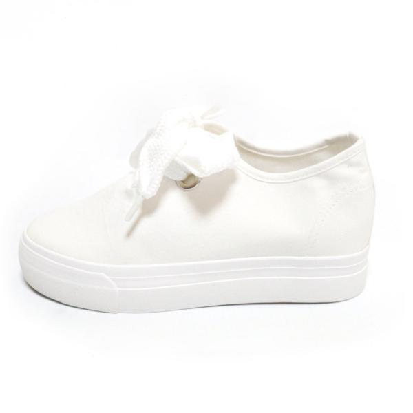 スニーカー レディース 白 靴 シューズ 厚底 厚底シューズ 厚底スニーカー シンプル ブラック ホワイト|jewelryhills|13