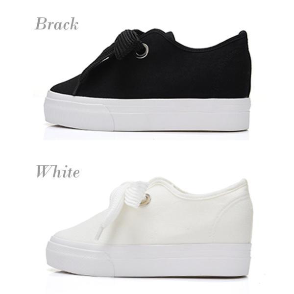スニーカー レディース 白 靴 シューズ 厚底 厚底シューズ 厚底スニーカー シンプル ブラック ホワイト|jewelryhills|08