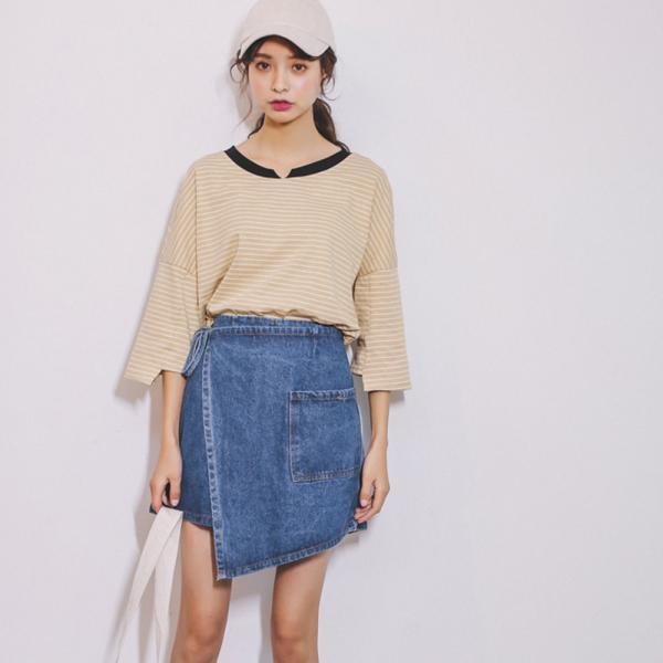 ショートパンツ デニム デニムパンツ レディース ショーパン 巻きスカート風 変形スカート 変形デザイン|jewelryhills