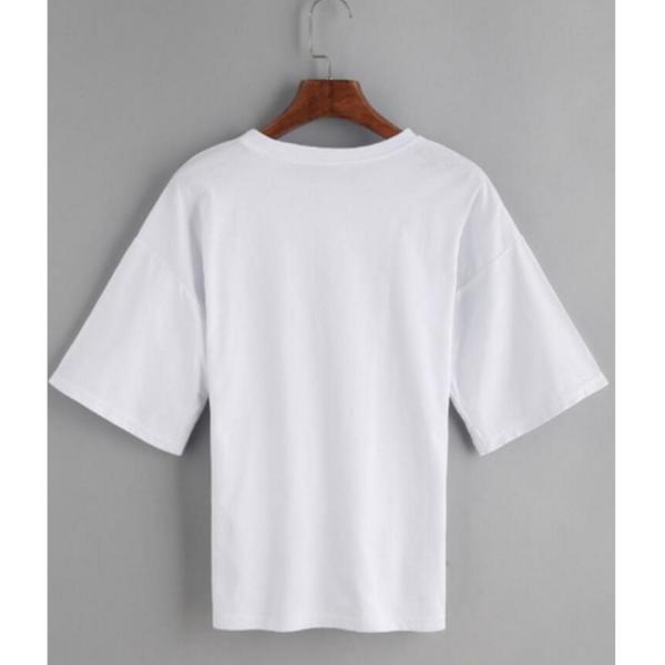 【SALE】 Tシャツ カットソー デザインカットソー デザインTシャツ レディース レースアップ 編み上げ ブラック 黒|jewelryhills|05
