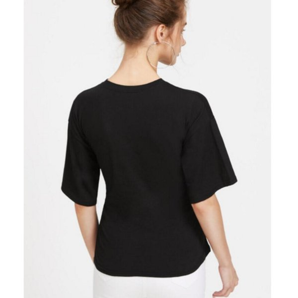 【SALE】 Tシャツ カットソー デザインカットソー デザインTシャツ レディース レースアップ 編み上げ ブラック 黒|jewelryhills|06