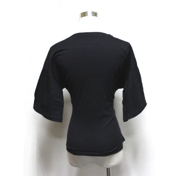 【SALE】 Tシャツ カットソー デザインカットソー デザインTシャツ レディース レースアップ 編み上げ ブラック 黒|jewelryhills|09