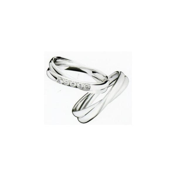 (11) LG010 & (12) LG009 Lazare ラザールダイヤモンド Pt999 純プラチナ マリッジリング 結婚指輪 ペアリング