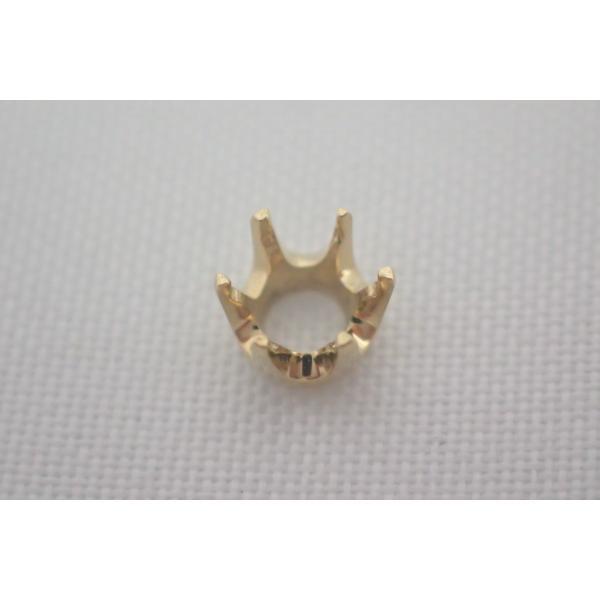 石枠 シャトン K18 18金 彫金 6本爪 1分5厘用 0.15ct ラウンド ペンダント 加工用  jewelryparts-shop