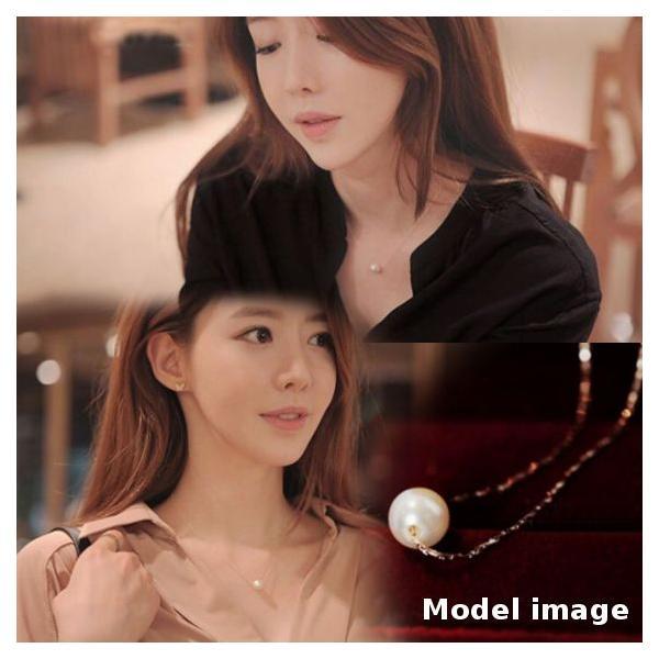シンプル一粒ホワイトパールネックレスK18RGP jewelrysanmi 02