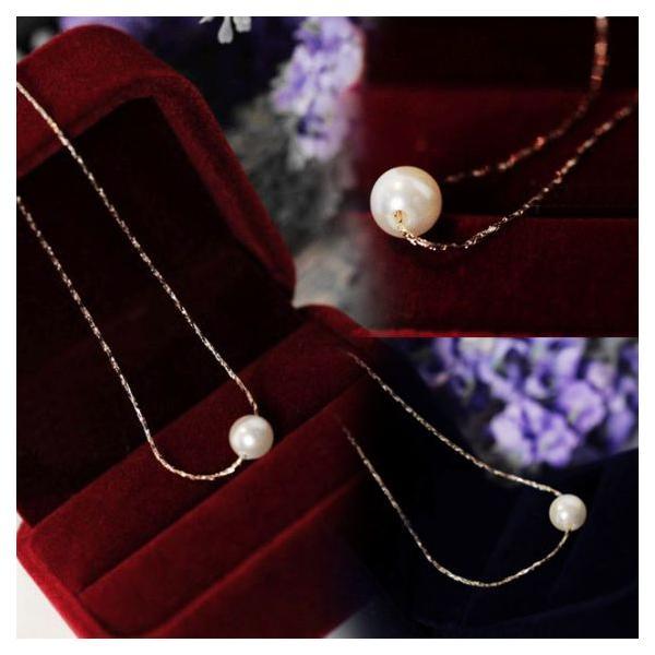 シンプル一粒ホワイトパールネックレスK18RGP jewelrysanmi 04