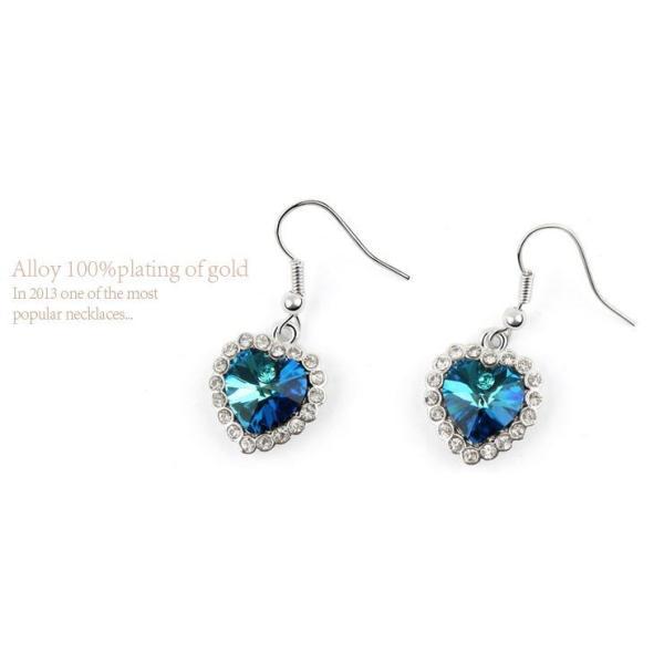 ピアス 海のハート スワロフスキー彩石 ホワイトゴールドRGPK18|jewelrysanmi|04
