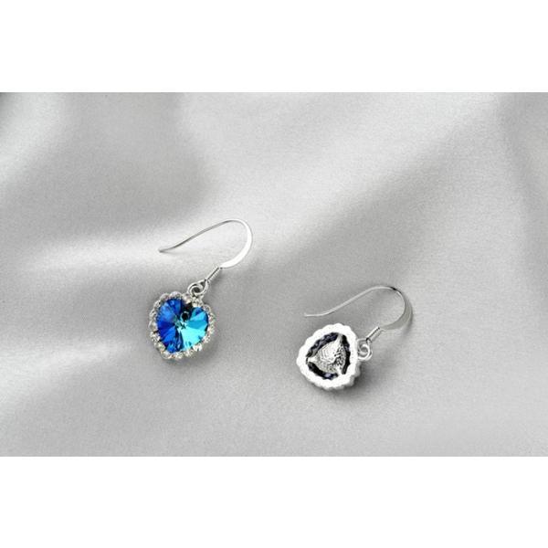 ピアス 海のハート スワロフスキー彩石 ホワイトゴールドRGPK18|jewelrysanmi|06