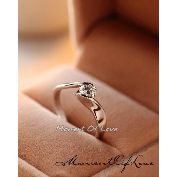 指輪 リング ピンキーリング 結婚指輪 スワロフスキー あすつく 大きいサイズ K18 レディースアクセサリー|jewelrysanmi|04