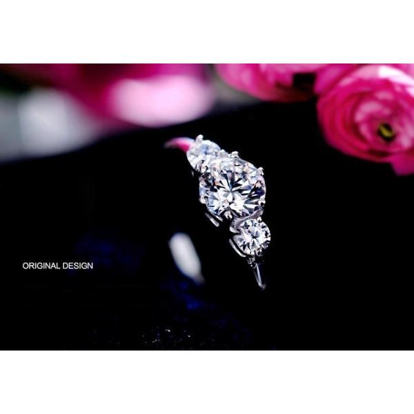 指輪 リング レディース スワロフスキー 3粒 大粒 プレゼント 送料無料|jewelrysanmi|02