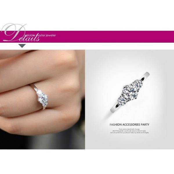 指輪 リング レディース スワロフスキー 3粒 大粒 プレゼント 送料無料|jewelrysanmi|05