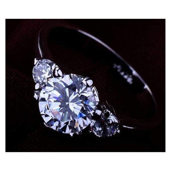 指輪 リング レディース スワロフスキー 3粒 大粒 プレゼント 送料無料|jewelrysanmi|06