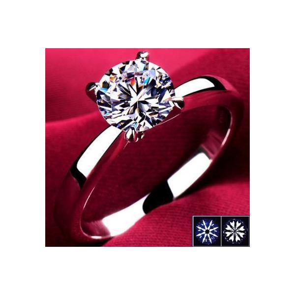 指輪 リング K18 1.3ct ダイヤモンドCZ彩石リングホワイトゴールドK18RGP|jewelrysanmi