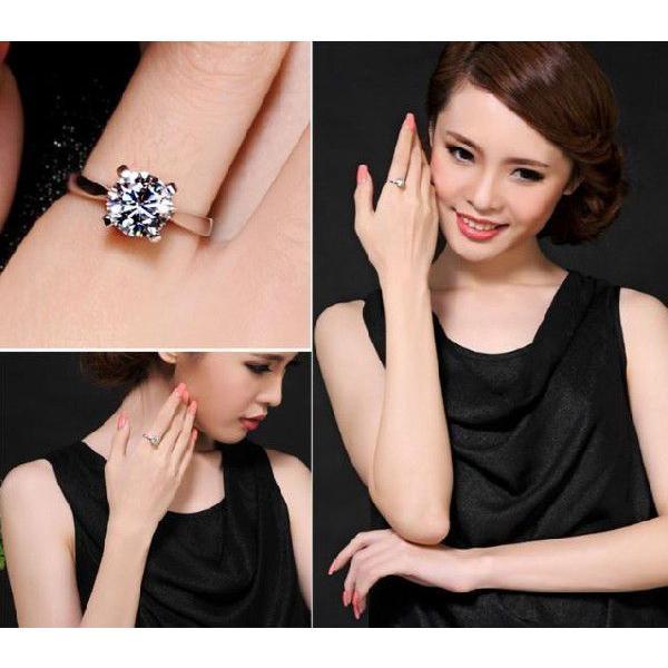 指輪 リング K18 1.3ct ダイヤモンドCZ彩石リングホワイトゴールドK18RGP|jewelrysanmi|05