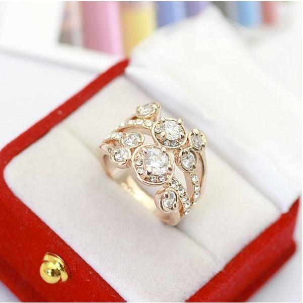 指輪 リング K18 ダイヤモンドCZ彩石満載ファッション リング ピンクゴールドK18RGP|jewelrysanmi|04
