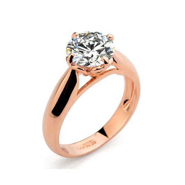 指輪 リング K18 煌きダイヤモンド彩石1.6ctリング ピンクゴールドK18RGP