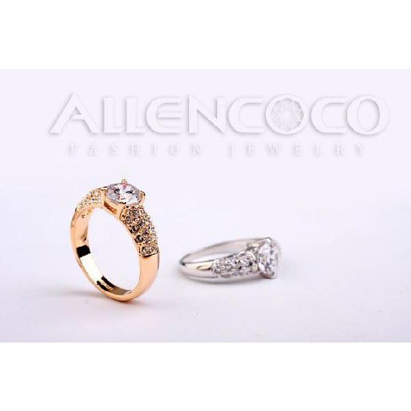 指輪 リング K18 K18豪華10ct 本物の輝きCZ彩石リング ピンクゴールドRGP|jewelrysanmi|02