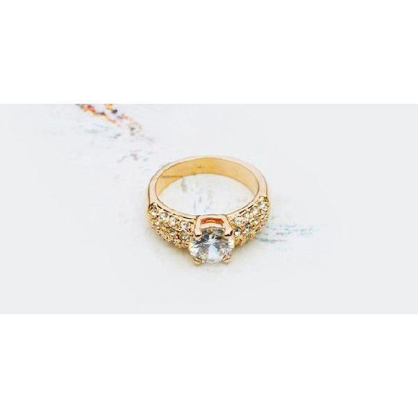 指輪 リング K18 K18豪華10ct 本物の輝きCZ彩石リング ピンクゴールドRGP|jewelrysanmi|03