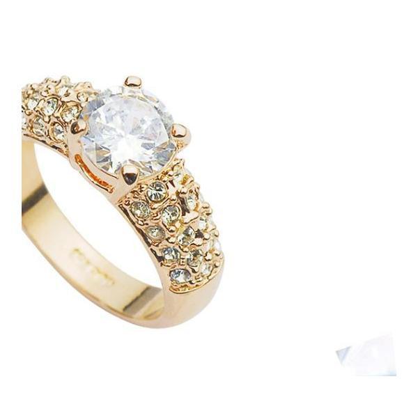 指輪 リング K18 K18豪華10ct 本物の輝きCZ彩石リング ピンクゴールドRGP|jewelrysanmi|04