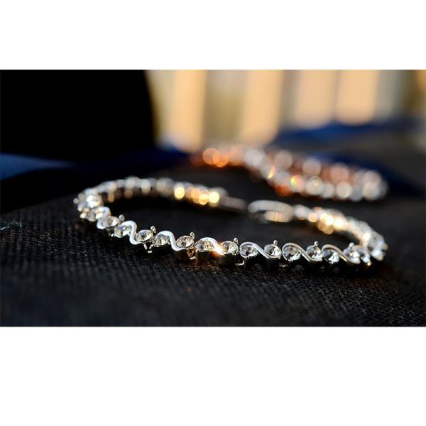 ブレスレット スワロフスキー社製クリスタル K18金RGP プレゼント jewelrysanmi 11