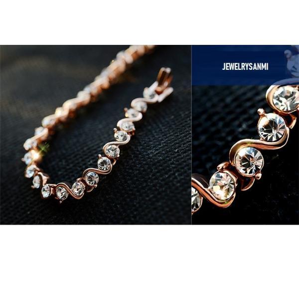 ブレスレット スワロフスキー社製クリスタル K18金RGP プレゼント jewelrysanmi 12