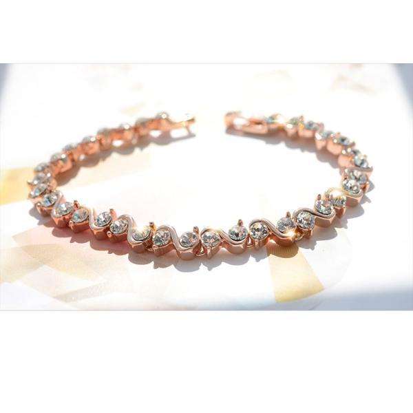 ブレスレット スワロフスキー社製クリスタル K18金RGP プレゼント jewelrysanmi 16