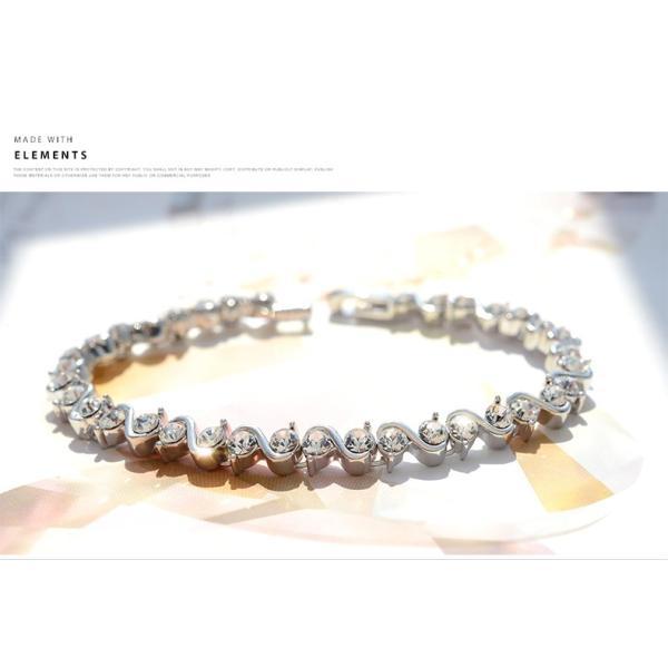 ブレスレット スワロフスキー社製クリスタル K18金RGP プレゼント jewelrysanmi 17