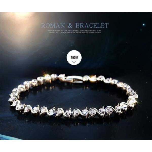 ブレスレット スワロフスキー社製クリスタル K18金RGP プレゼント jewelrysanmi 18