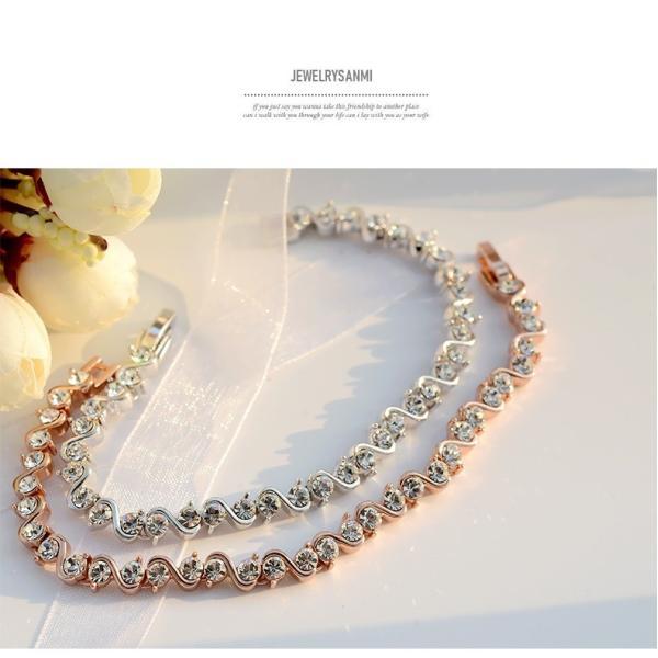 ブレスレット スワロフスキー社製クリスタル K18金RGP プレゼント jewelrysanmi 19