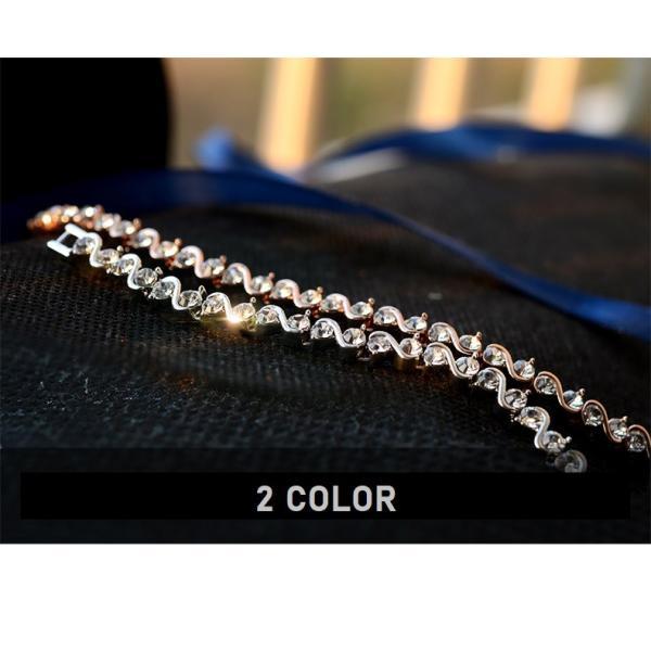 ブレスレット スワロフスキー社製クリスタル K18金RGP プレゼント jewelrysanmi 21