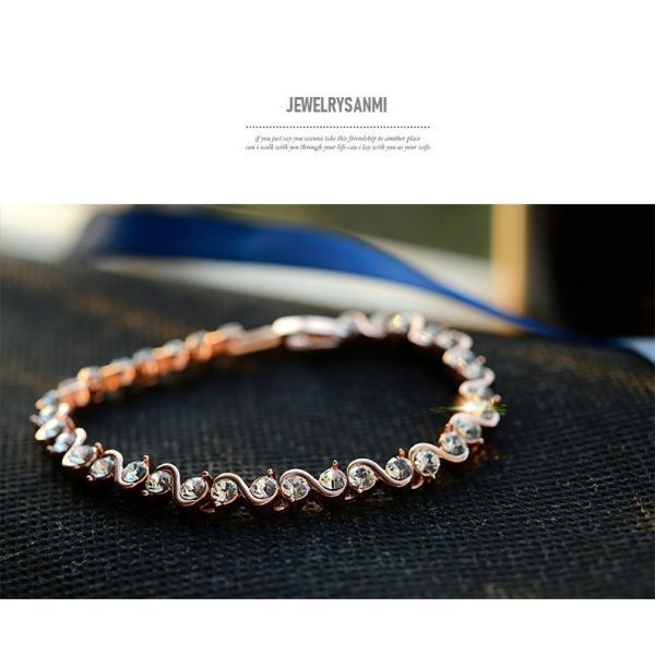 ブレスレット スワロフスキー社製クリスタル K18金RGP プレゼント jewelrysanmi 07