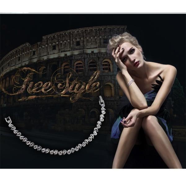 ブレスレット スワロフスキー社製クリスタル K18金RGP プレゼント jewelrysanmi 09