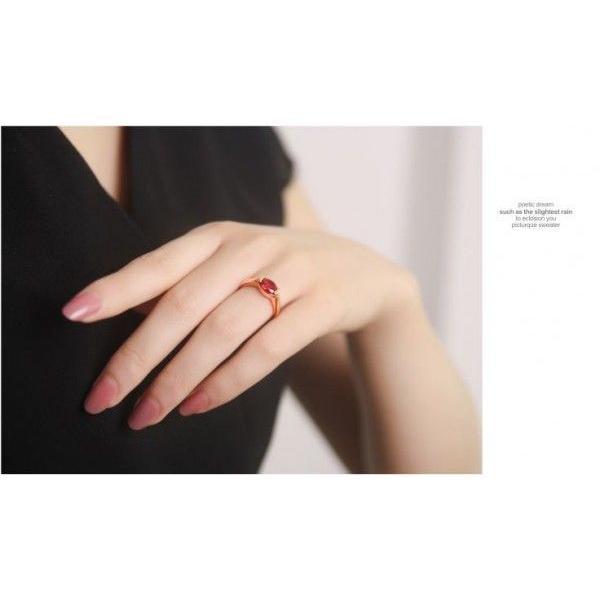 指輪 リング K18 華やかなシルエットにひと際映える/スワロフスキー指輪K18RGP