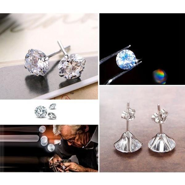 ピアス スワロフスキー シルバー SILVER925 シンプル あすつく K18 プラチナ レディースアクセサリー|jewelrysanmi|05