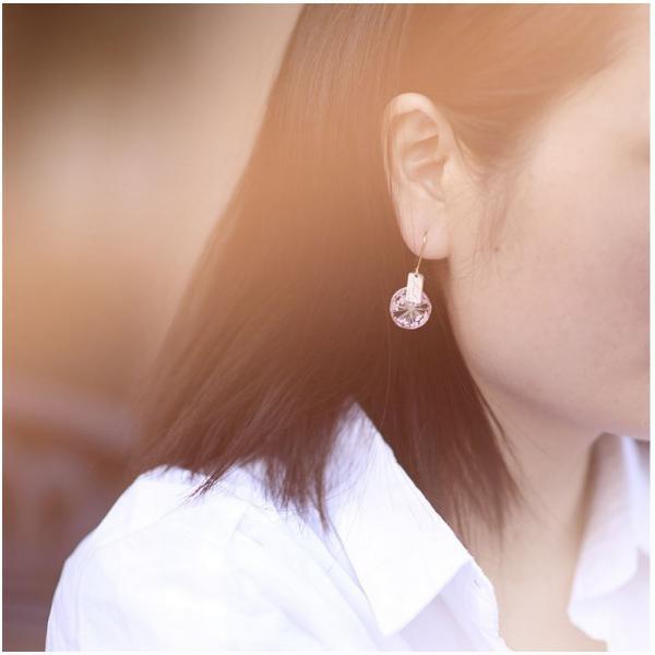 ピアス レディース スワロフスキー 花 さくら 桜 入学卒業 フック 可愛い K18金RGP|jewelrysanmi|08