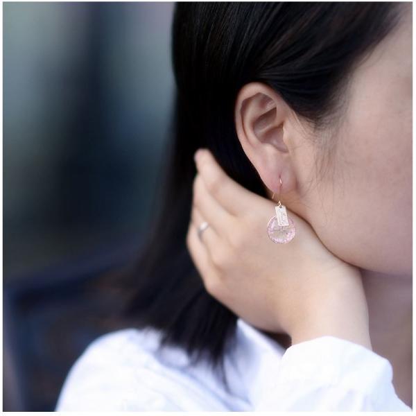 ピアス レディース スワロフスキー 花 さくら 桜 入学卒業 フック 可愛い K18金RGP|jewelrysanmi|09