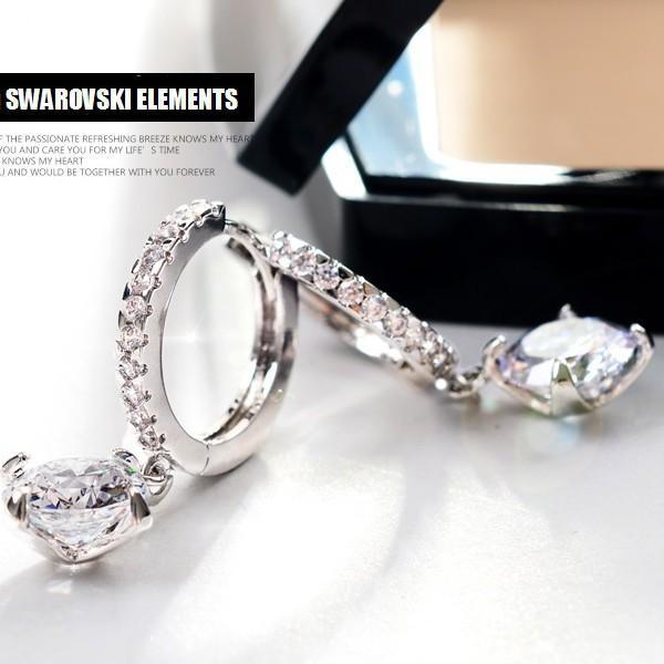 ピアス スワロフスキー 大粒 両耳 ゴージャス あすつく K18 レディースアクセサリー|jewelrysanmi