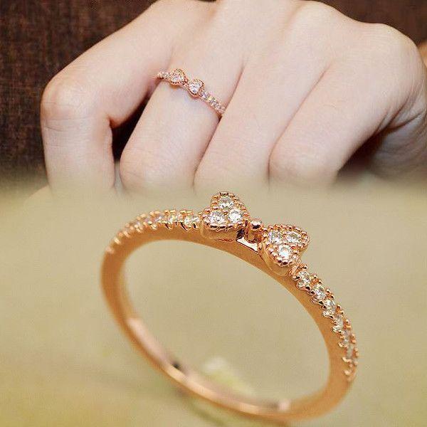 指輪 リング K18 大人の指先に遊び心と優美さをアピールしてくれる/リボンリング/ハーフエタニティリング/ピンキー/指輪|jewelrysanmi