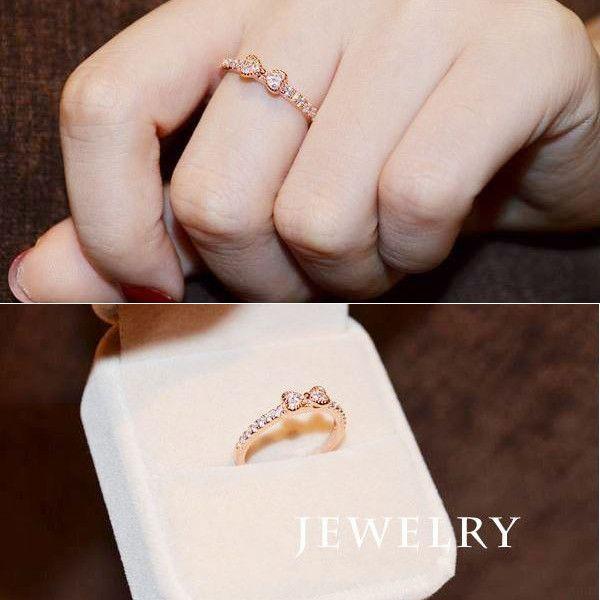 指輪 リング K18 大人の指先に遊び心と優美さをアピールしてくれる/リボンリング/ハーフエタニティリング/ピンキー/指輪|jewelrysanmi|04