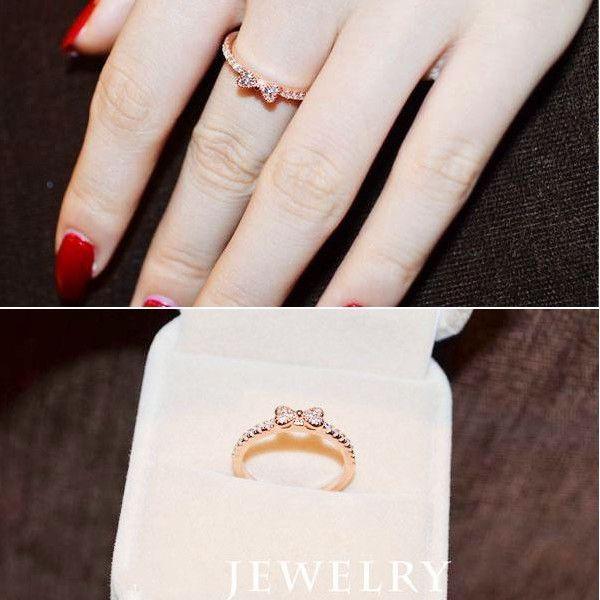 指輪 リング K18 大人の指先に遊び心と優美さをアピールしてくれる/リボンリング/ハーフエタニティリング/ピンキー/指輪|jewelrysanmi|05